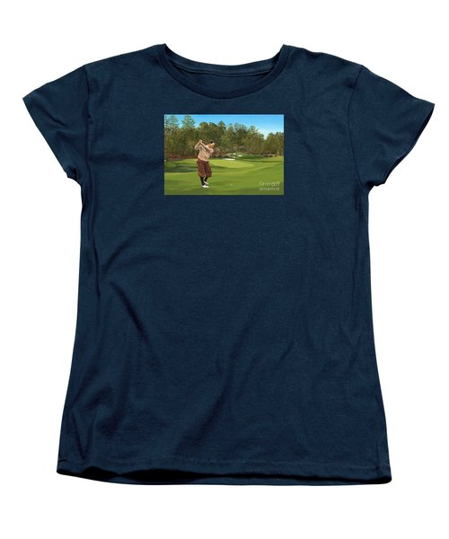 Augusta 11 And 12th Hole Bobbyjones Women's T-Shirt (Standard Cut) by Tim Gilliland