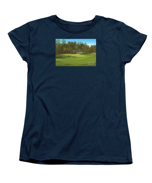Augusta 11 And12th Hole Women's T-Shirt (Standard Cut) by Tim Gilliland