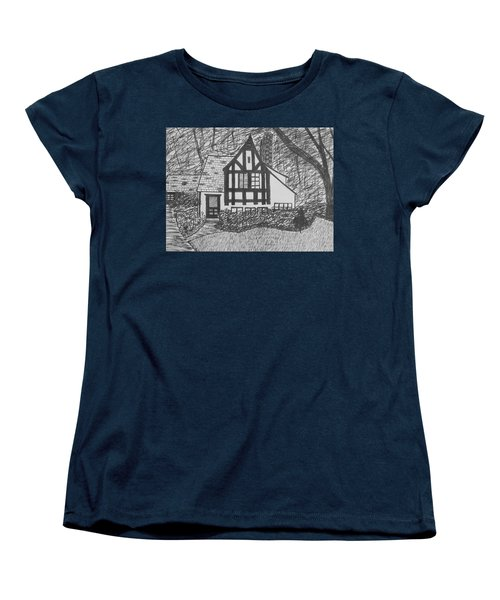 Women's T-Shirt (Standard Cut) featuring the drawing Aunt Vizy's House by Lenore Senior