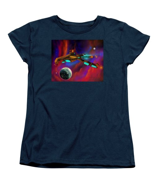 Women's T-Shirt (Standard Cut) featuring the painting Auroborus 2015 by James Christopher Hill