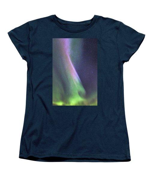 Women's T-Shirt (Standard Cut) featuring the photograph Aurora Abstract by Hitendra SINKAR