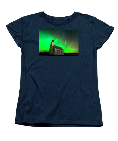 Aurora And Country Church Women's T-Shirt (Standard Cut) by Dan Jurak