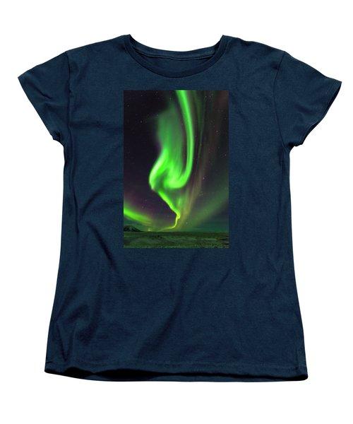 Aurora Burst Women's T-Shirt (Standard Cut) by Allen Biedrzycki