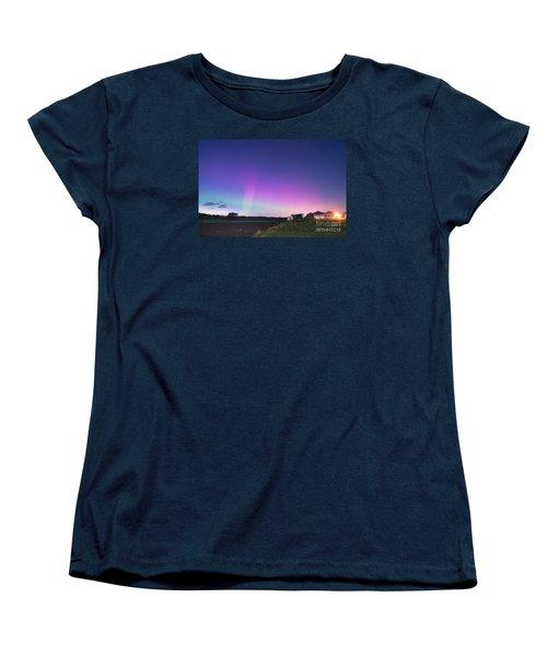 Aurora Energized Pepper Fields Women's T-Shirt (Standard Cut) by Patrick Fennell