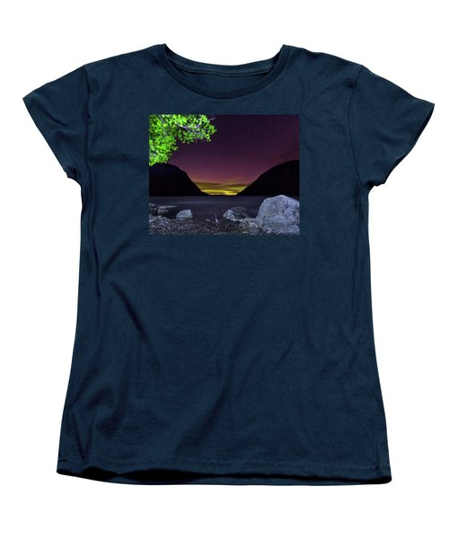 Aurora Over Lake Willoughby Women's T-Shirt (Standard Cut) by Tim Kirchoff