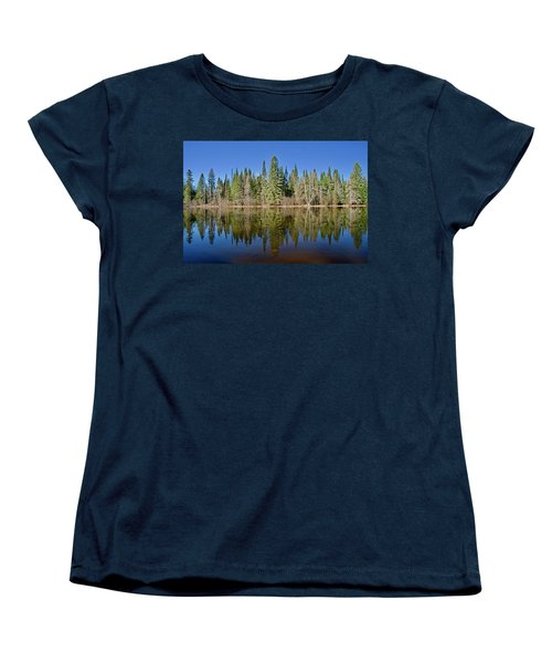 Women's T-Shirt (Standard Cut) featuring the photograph Ausable Reflections 1768 by Michael Peychich