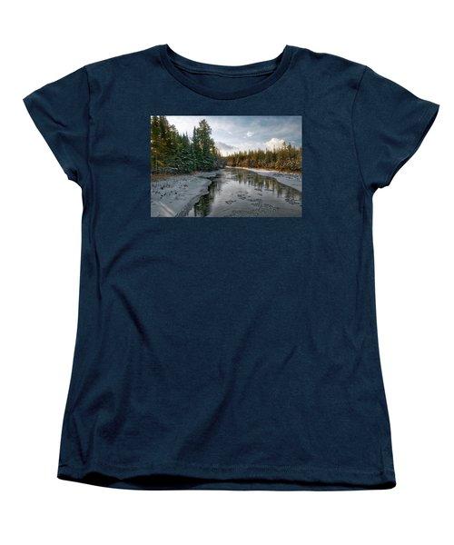 Ausable River 1282 Women's T-Shirt (Standard Cut) by Michael Peychich