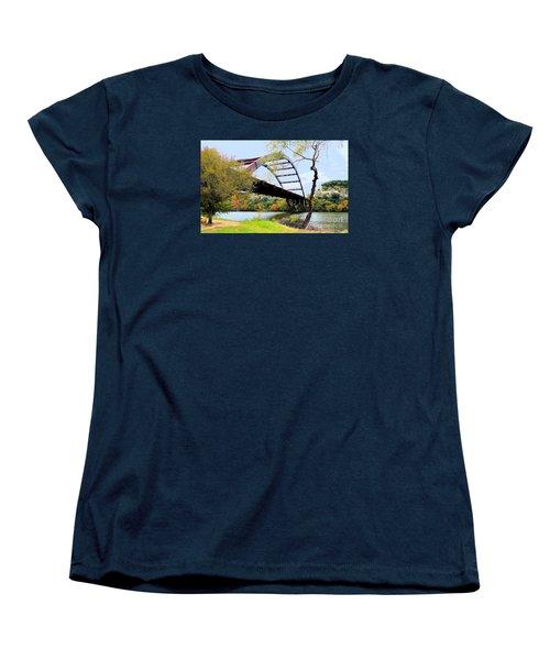 Austin Pennybacker Bridge In Autumn Women's T-Shirt (Standard Cut) by Janette Boyd