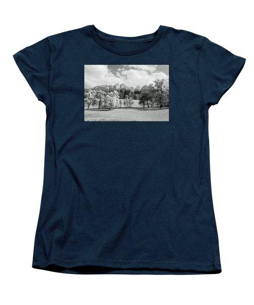 Women's T-Shirt (Standard Cut) featuring the photograph Austrian Landscape by Brooke T Ryan
