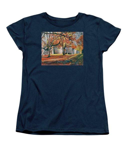 Autumn Along Maastricht City Wall Women's T-Shirt (Standard Cut) by Nop Briex