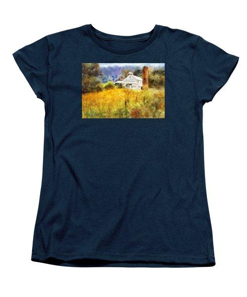 Autumn Barn In The Morning Women's T-Shirt (Standard Cut) by Francesa Miller