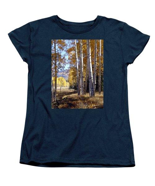 Autumn Chama New Mexico Women's T-Shirt (Standard Cut) by Kurt Van Wagner