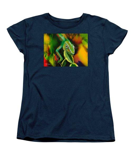 Autumn Chameleon Women's T-Shirt (Standard Cut) by Diana Riukas