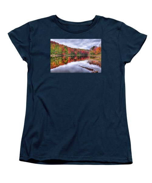 Women's T-Shirt (Standard Cut) featuring the photograph Autumn Color At The Pond by David Patterson