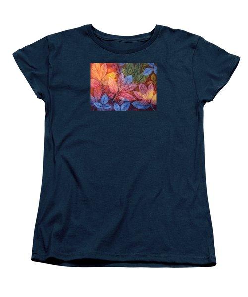 Autumn Color Women's T-Shirt (Standard Cut) by Nancy Jolley