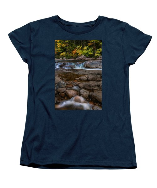 Women's T-Shirt (Standard Cut) featuring the photograph Autumn Colors In White Mountains New Hampshire by Ranjay Mitra