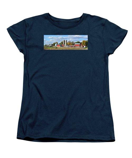 Autumn Elk Farm Women's T-Shirt (Standard Cut) by Bonfire Photography