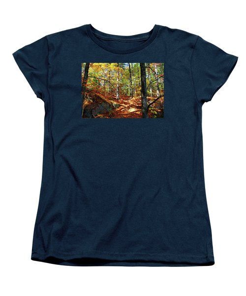 Autumn Forest Killarney Women's T-Shirt (Standard Cut) by Debbie Oppermann