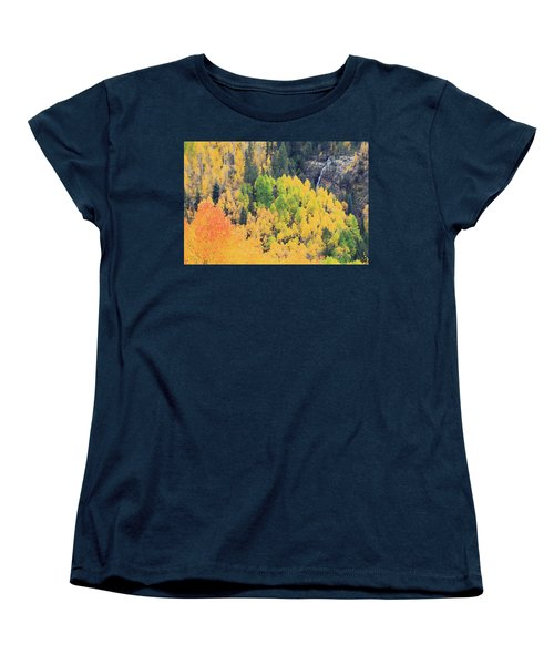 Women's T-Shirt (Standard Cut) featuring the photograph Autumn Glory by David Chandler