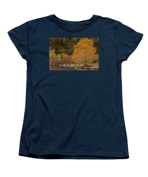 Autumn Glory In Beaver's Bend Women's T-Shirt (Standard Cut) by Tamyra Ayles