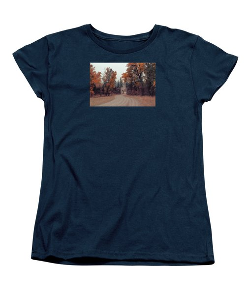 Autumn In Montana Women's T-Shirt (Standard Cut) by Cathy Anderson