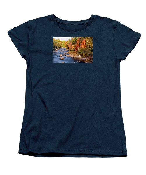 Autumn In New Hampshire Women's T-Shirt (Standard Cut) by Betty Denise