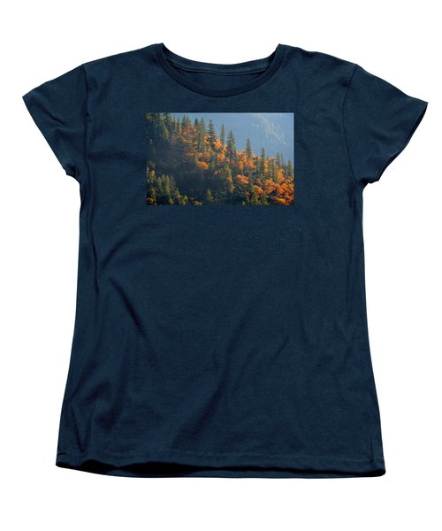 Autumn In The Feather River Canyon Women's T-Shirt (Standard Cut) by AJ Schibig