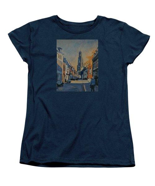 Autumn In The Lange Nieuwstraat Utrecht Women's T-Shirt (Standard Cut) by Nop Briex