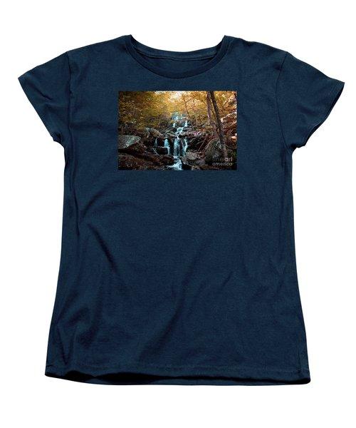 Autumn In The Mountains Women's T-Shirt (Standard Cut) by Rebecca Davis