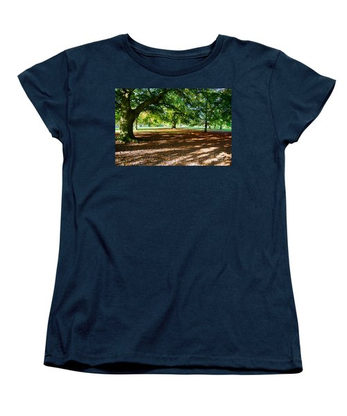 Women's T-Shirt (Standard Cut) featuring the photograph Autumn In The Park by Colin Rayner