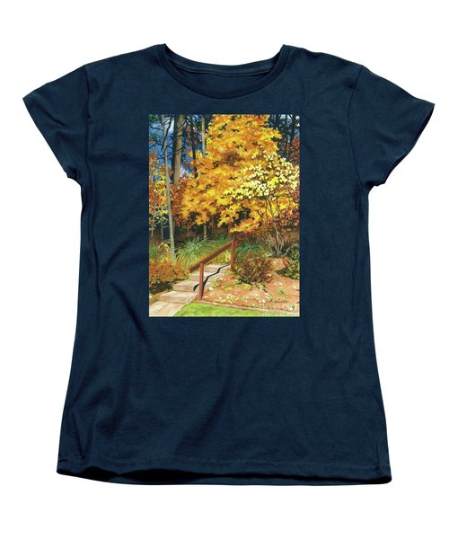 Women's T-Shirt (Standard Cut) featuring the painting Autumn Invitation by Barbara Jewell