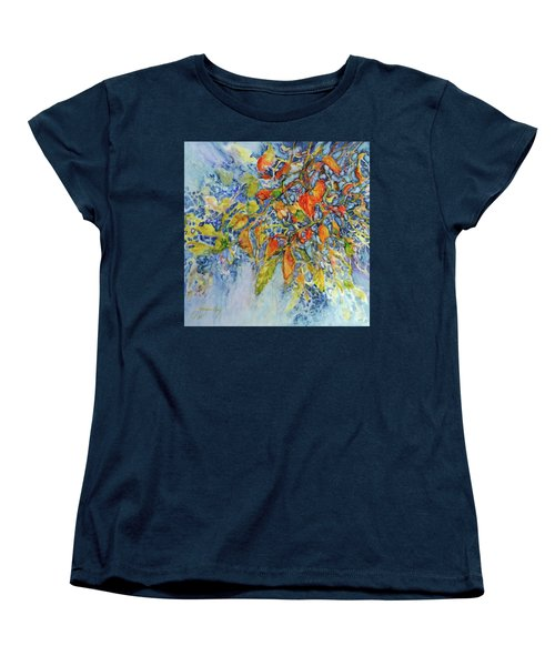 Women's T-Shirt (Standard Cut) featuring the painting Autumn Lace by Joanne Smoley
