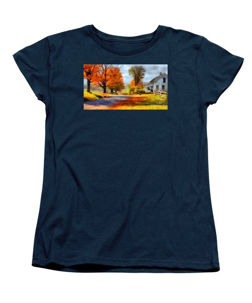 Autumn Landscape Women's T-Shirt (Standard Cut) by Sergey Lukashin