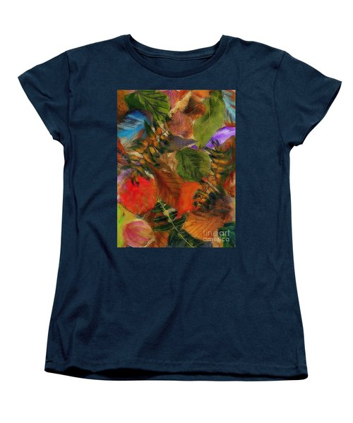 Autumn Leaves Women's T-Shirt (Standard Cut) by Klara Acel
