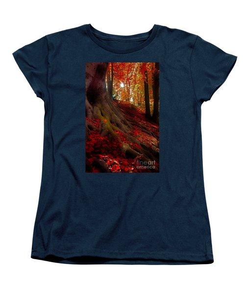 Autumn Light Women's T-Shirt (Standard Cut) by Hannes Cmarits