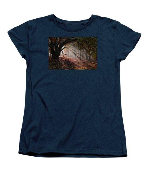 Women's T-Shirt (Standard Cut) featuring the photograph Autumn Light  by Scott Carruthers