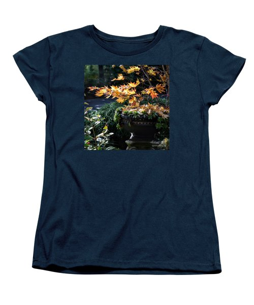 Women's T-Shirt (Standard Cut) featuring the photograph Autumn Maple And Succulents by Tanya Searcy