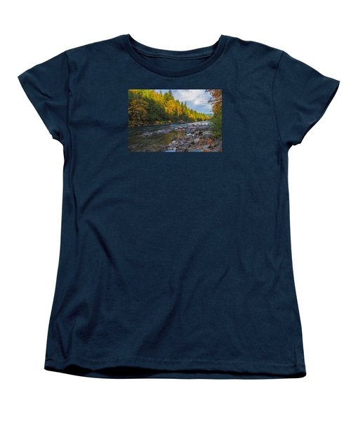 Autumn Morning Light On The Snoqualmie Women's T-Shirt (Standard Cut) by Ken Stanback