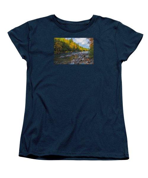Autumn Morning Light On The Snoqualmie Women's T-Shirt (Standard Cut)
