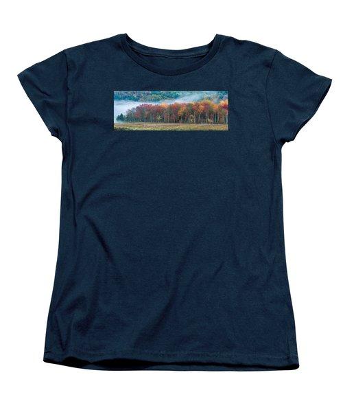 Autumn Morning Mist Women's T-Shirt (Standard Cut) by Brian Caldwell