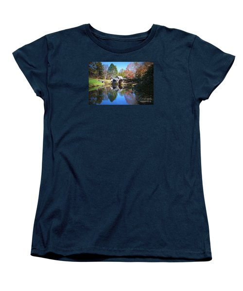 Autumn On The Blue Ridge Parkway At Mabry Mill Women's T-Shirt (Standard Cut) by Nature Scapes Fine Art