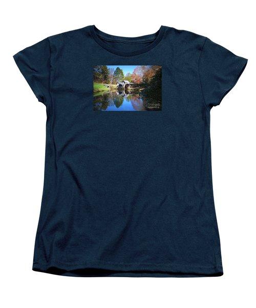 Autumn On The Blue Ridge Parkway At Mabry Mill Women's T-Shirt (Standard Cut)
