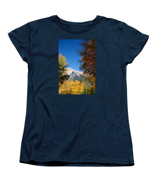 Autumn Peaks Women's T-Shirt (Standard Cut) by Lawrence Boothby