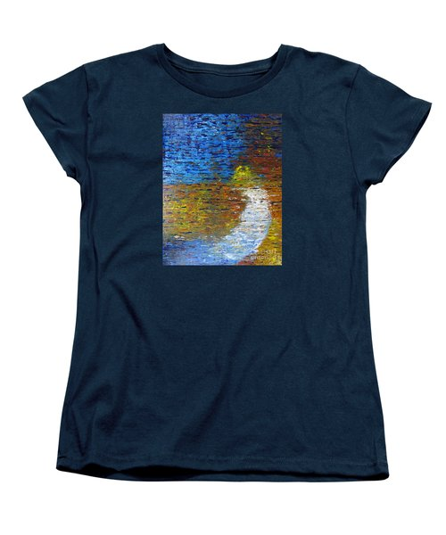 Women's T-Shirt (Standard Cut) featuring the painting Autumn Reflection by Jacqueline Athmann