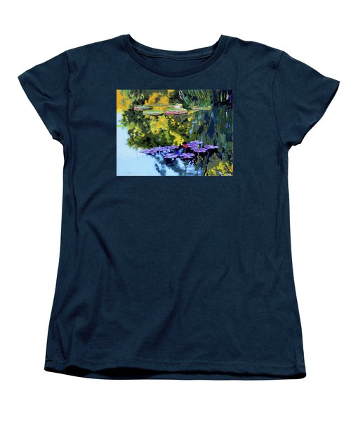 Autumn Reflections On The Pond Women's T-Shirt (Standard Cut) by John Lautermilch