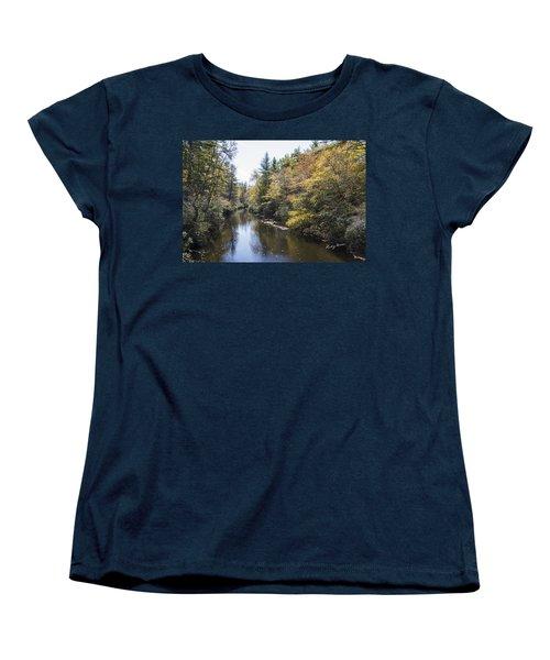 Autumn River Women's T-Shirt (Standard Cut) by Ricky Dean