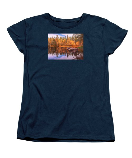 Women's T-Shirt (Standard Cut) featuring the photograph Autumn Season  by Rose-Maries Pictures