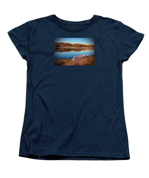 Autumn Serenade Women's T-Shirt (Standard Cut) by Cedric Hampton