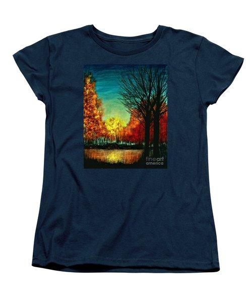 Autumn Silhouette  Women's T-Shirt (Standard Cut)