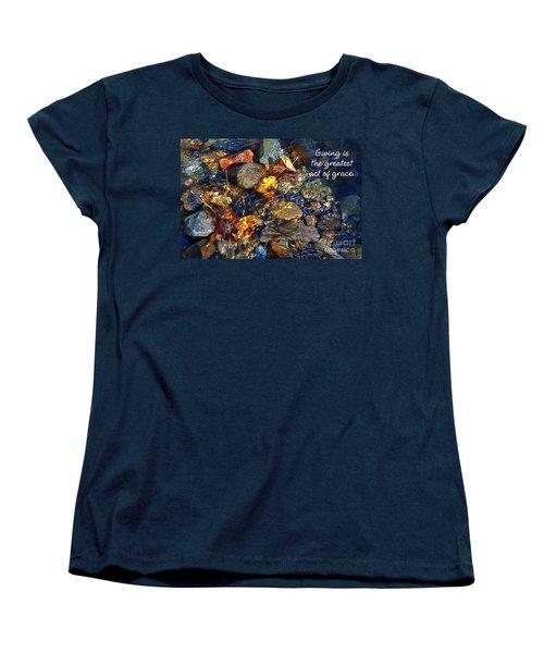 Women's T-Shirt (Standard Cut) featuring the drawing Autumn Splash Grace by Diane E Berry